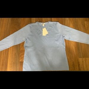 Baby Blue Charter's Club Long Sleeve Top